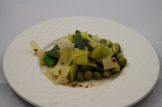 Peas with Leeks and Spices 4