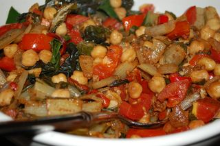 Chard with Chickpeas and Tomatoes 1