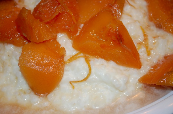 Rice Pudding with Quinces in Rosewater Syrup 4
