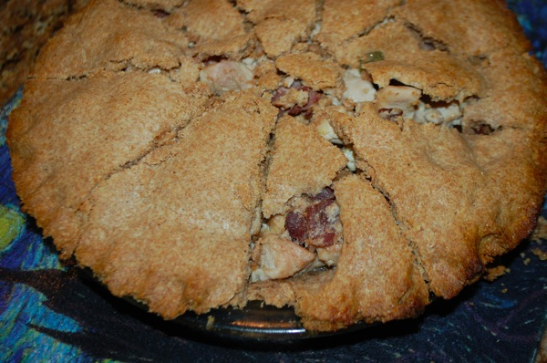 Pie with Chicken and Bacon 2
