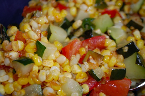 Zucchini with Corn and Tomatoes 1