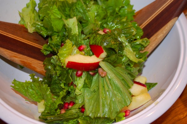 Salad with Apples and Pomegranates 2
