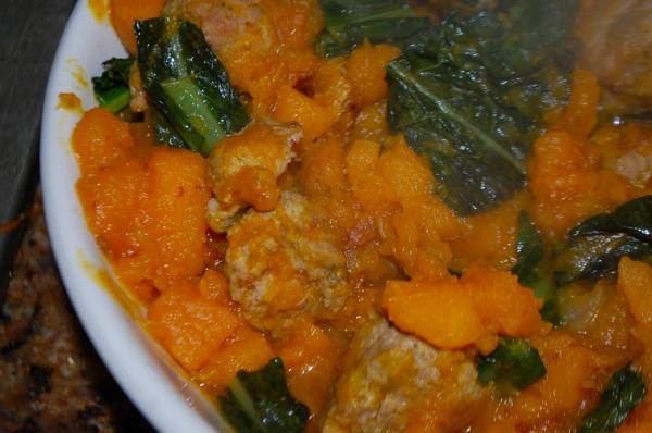 Turkey Meatballs with Squash and Kale 4