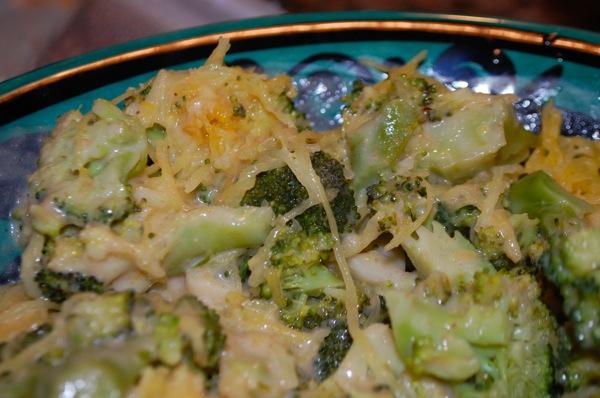 Spaghetti Squash with Broccoli and Veloute 4