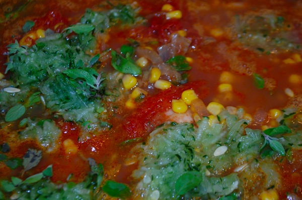 Scallop Corn and Tomato Soup 1