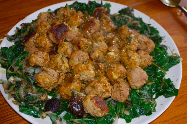 Turkey Meatballs with Dill and Greens 3