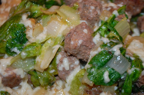 Pasta with Meatballs and Greens 3
