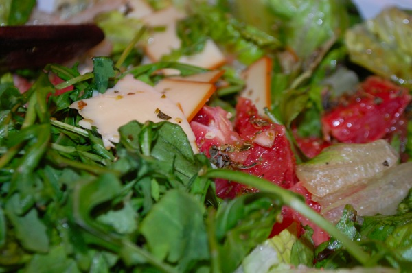 Salad with Arugula Grapefruit and Smoked Gruyere 1