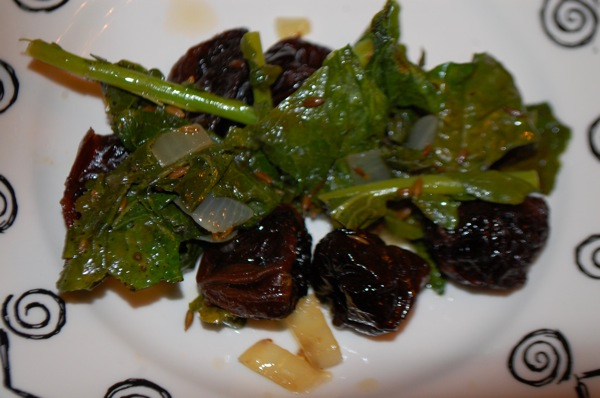 Turnip Greens with Prunes 5