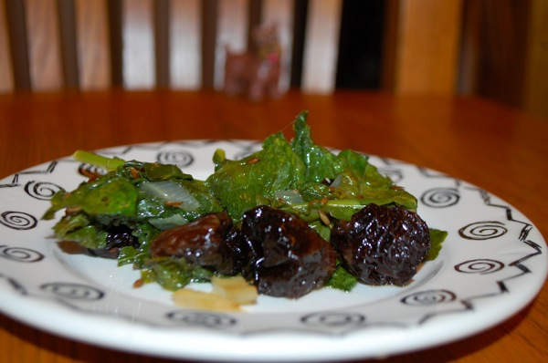 Turnip Greens with Prunes 3