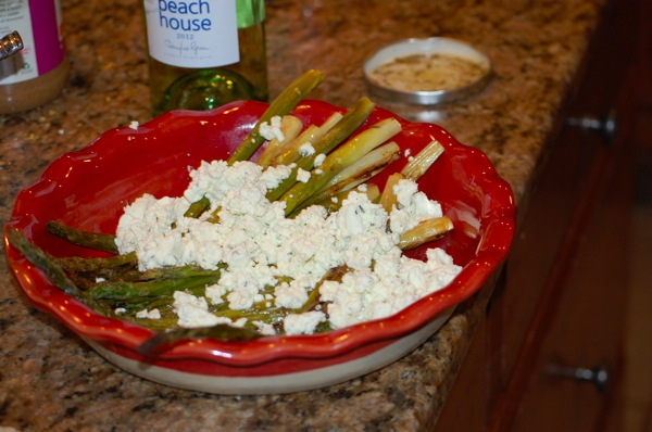 Asparagus with Boursin 1