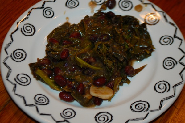 Beans with Collard Greens and Salsa Verde 2