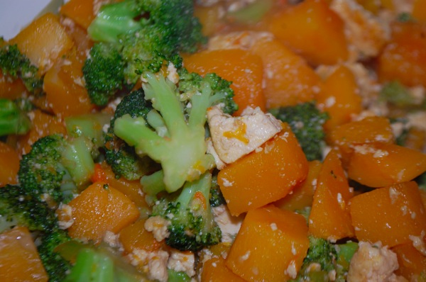 Tofu with Squash and Broccoli 3