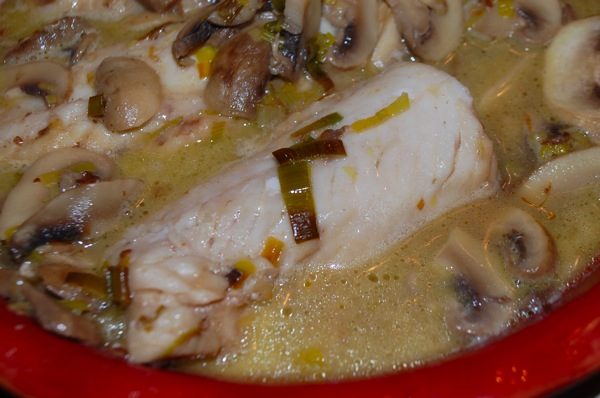 Fish with Mushrooms and Leeks 2